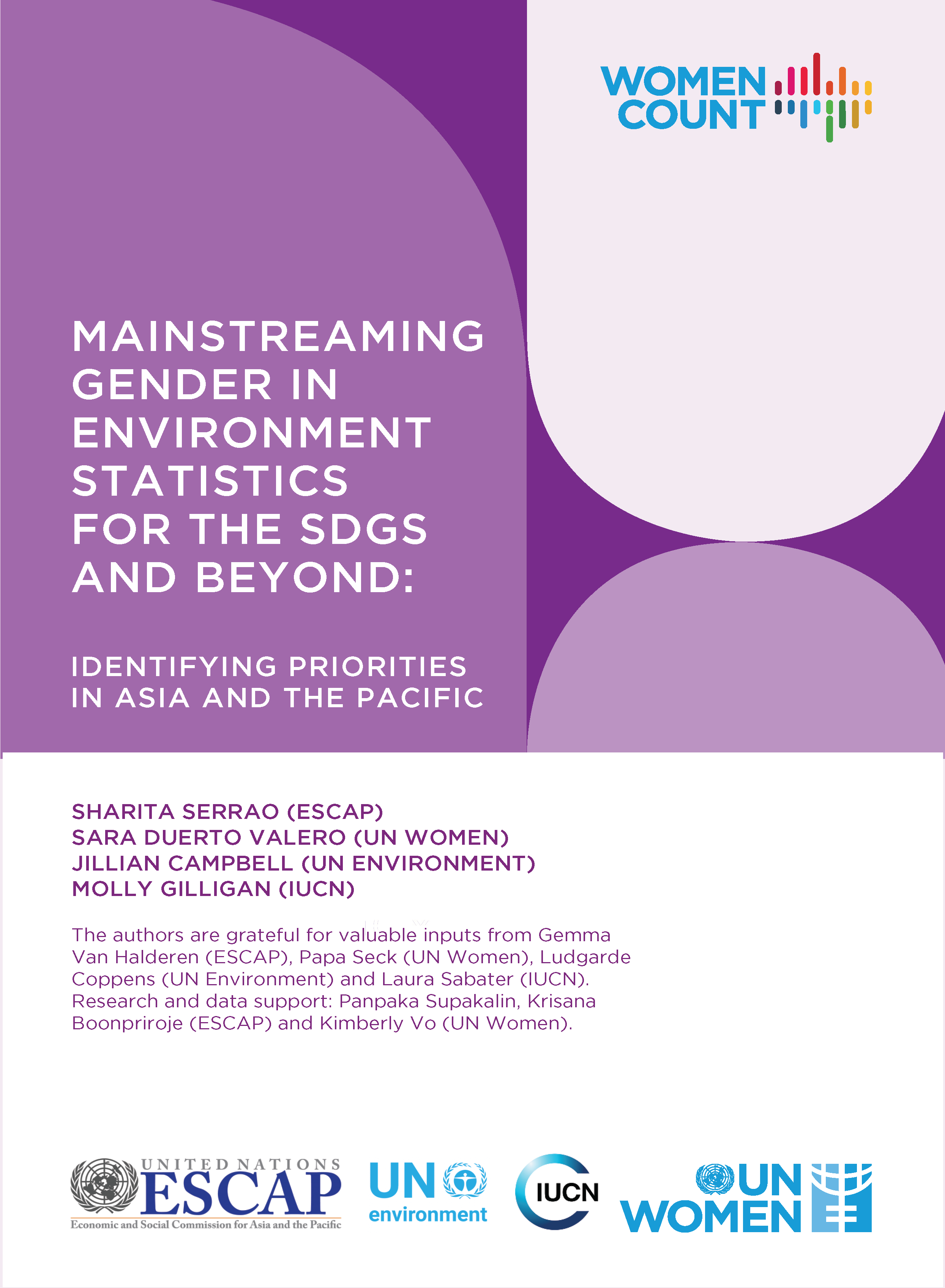 Mainstreaming gender in environment statistics in Asia-Pacific