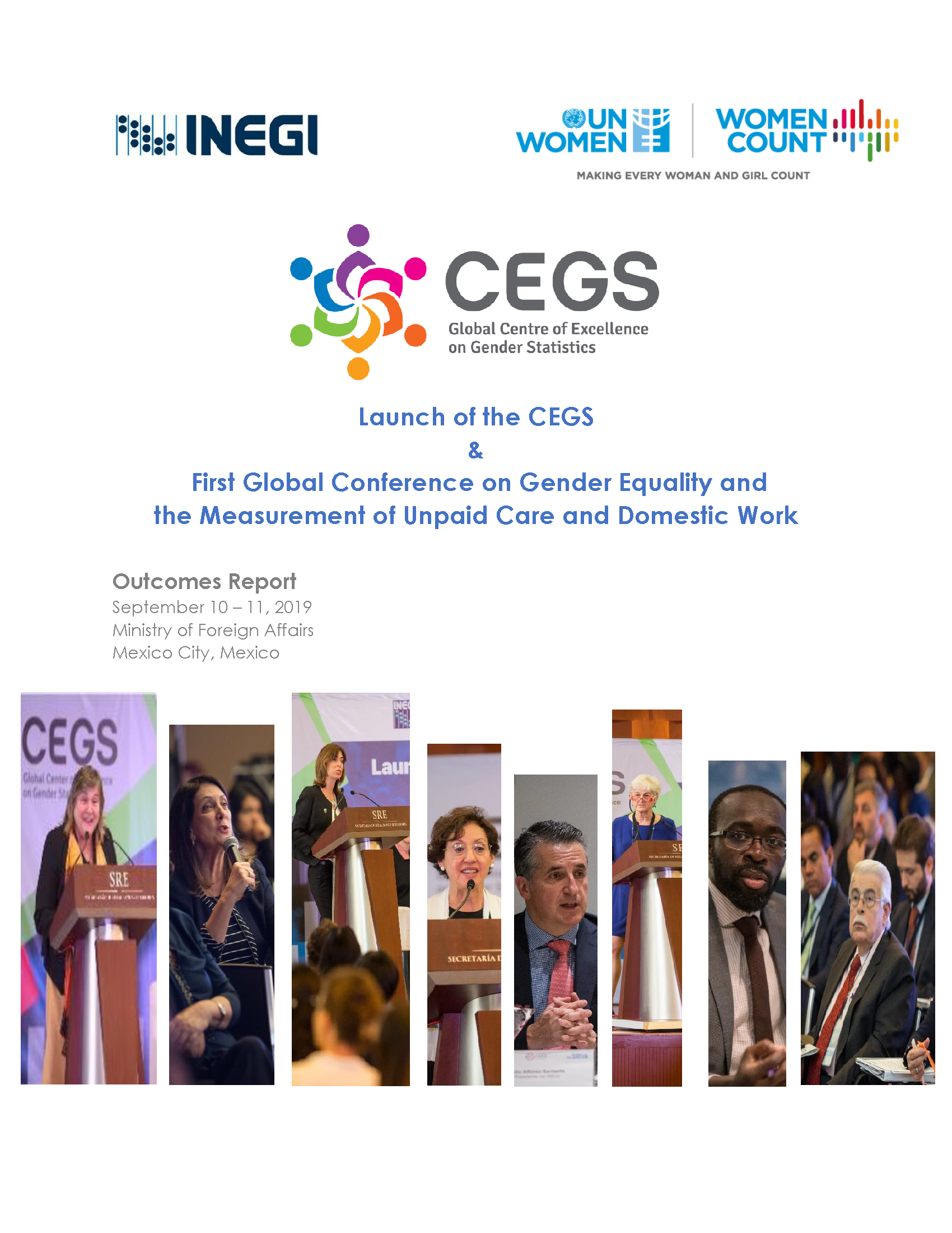 Outcome Report: CEGS Launch and First Global Conference on Gender Equality and the Measurement of Unpaid Care and Domestic Work