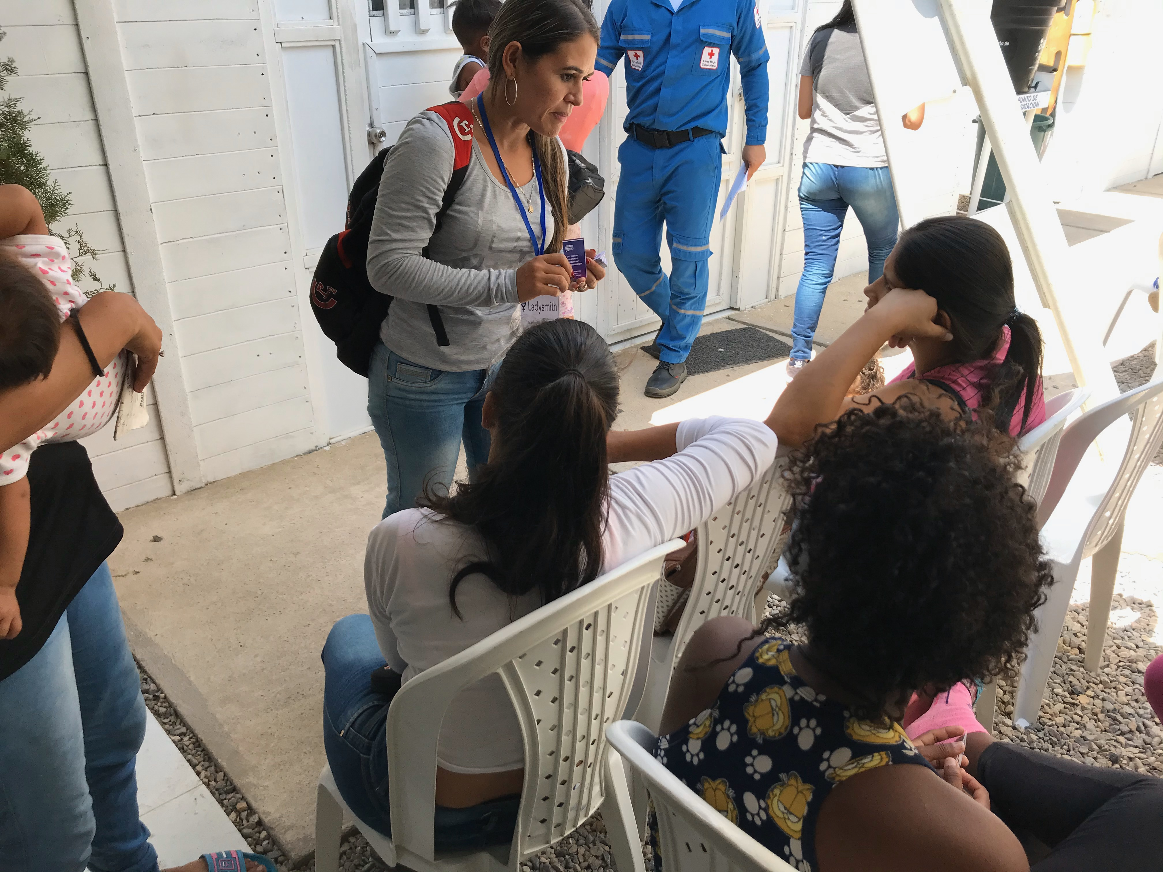 A social worker consults with women at Cosas de Mujeres in Colombia. Photo by Ladysmith