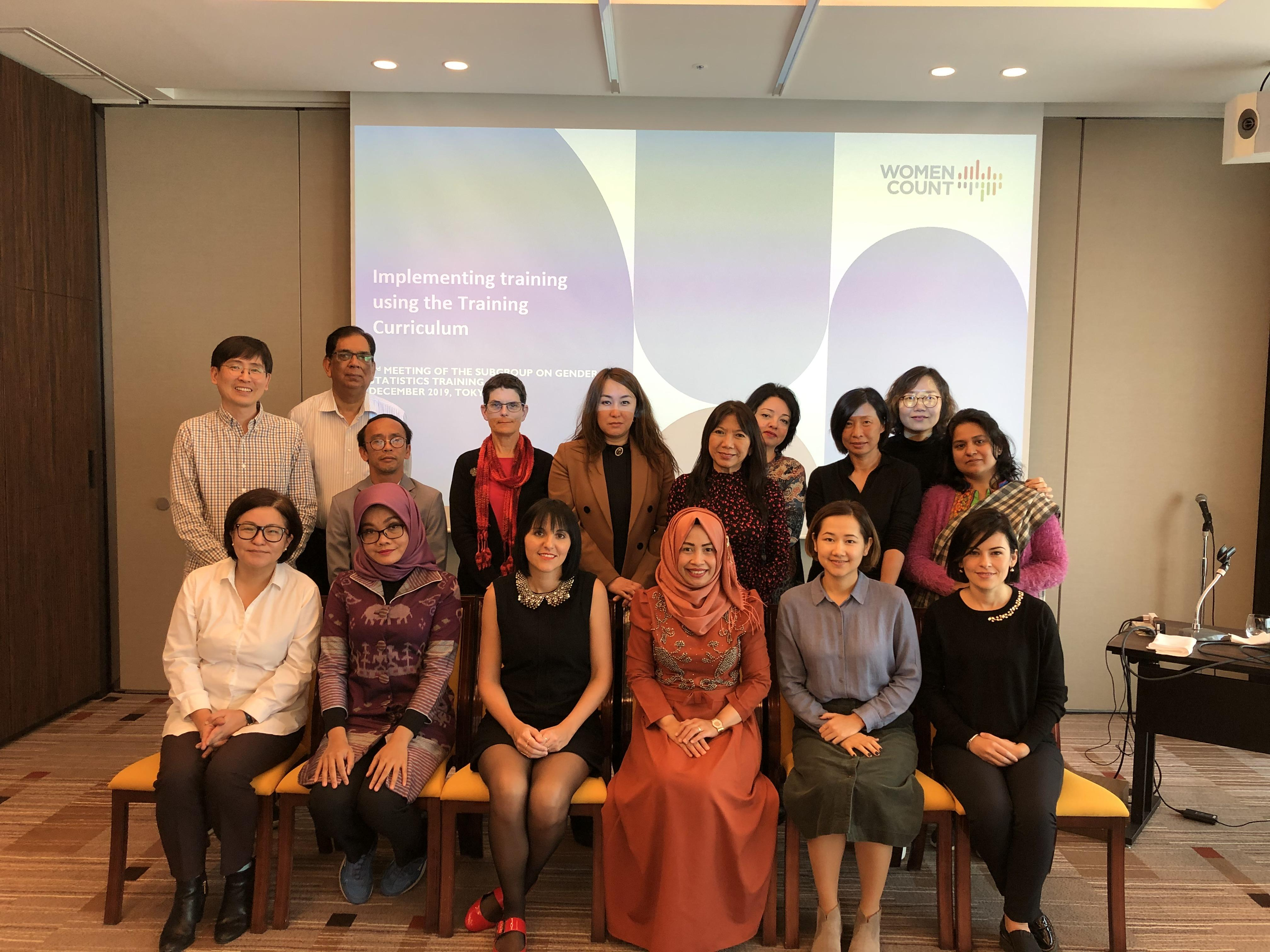 Third meeting of the Subgroup on Gender Statistics Training in Tokyo, December 4-6