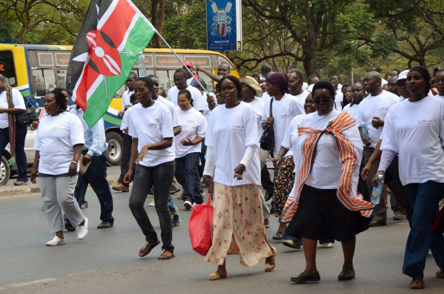 Women join a demonstration against gender-based violence in Kenya. Photo by: Say NO - UNiTE / CC BY-NC-ND